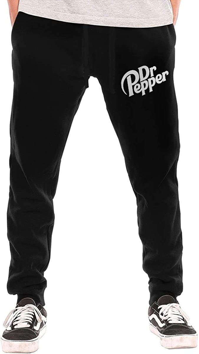 Soft Drink Dr Pepper Mens Training Pants Athletic Sweatpants with Zipper Pockets