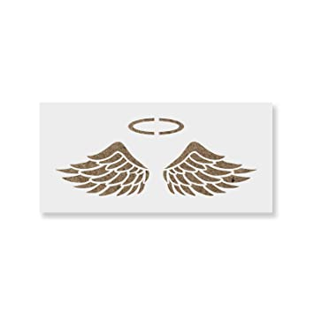 image about Angel Wing Stencil Printable known as Angel Wings Stencil Template for Partitions and Crafts - Reusable Stencils for Portray inside of Tiny Enormous Measurements