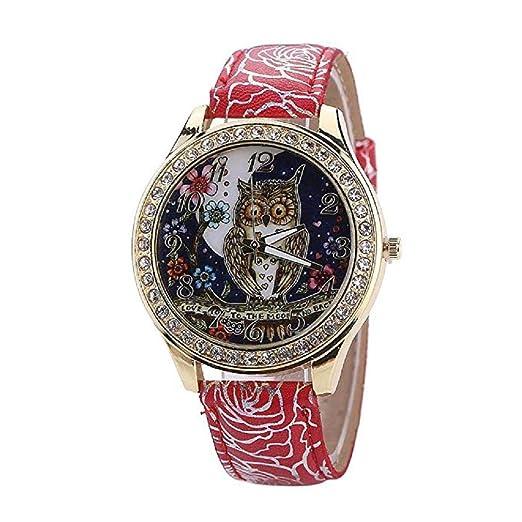 ¡Promoción Relojes de Cuarzo para Mujer Búho de liquidación Relojes de señora  Relojes de Mujer ca6070326857
