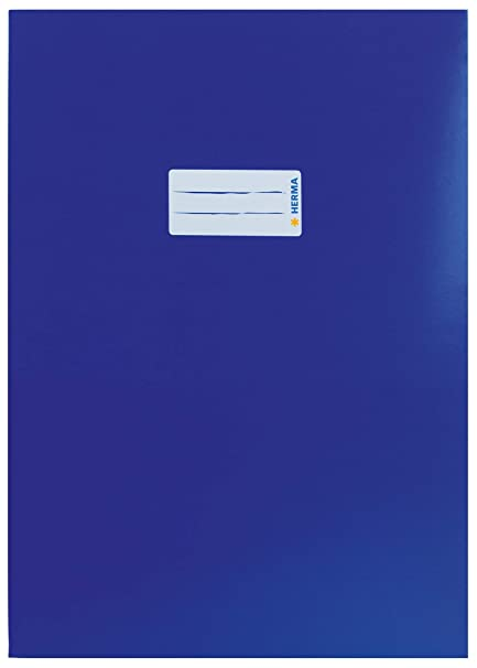 Herma 7470 Notebook Cover DIN A5 Landscape Plastic Transparent Colourless 1 Exercise Book Cover for School Books