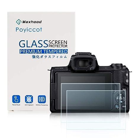 Maxhood - Protector de Pantalla de Cristal Templado para Canon EOS ...