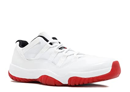 quality design 7b125 4f212 Image Unavailable. Image not available for. Color  Nike Mens Air Jordan 11  Retro Low  quot Cherry quot  White Varsity Red-