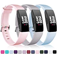 Wepro Bands Replacement Compatible with Fitbit Inspire HR/Inspire/Inspire 2/Ace 2 Fitness Tracker for Women Men, 3-Pack, Small, Large