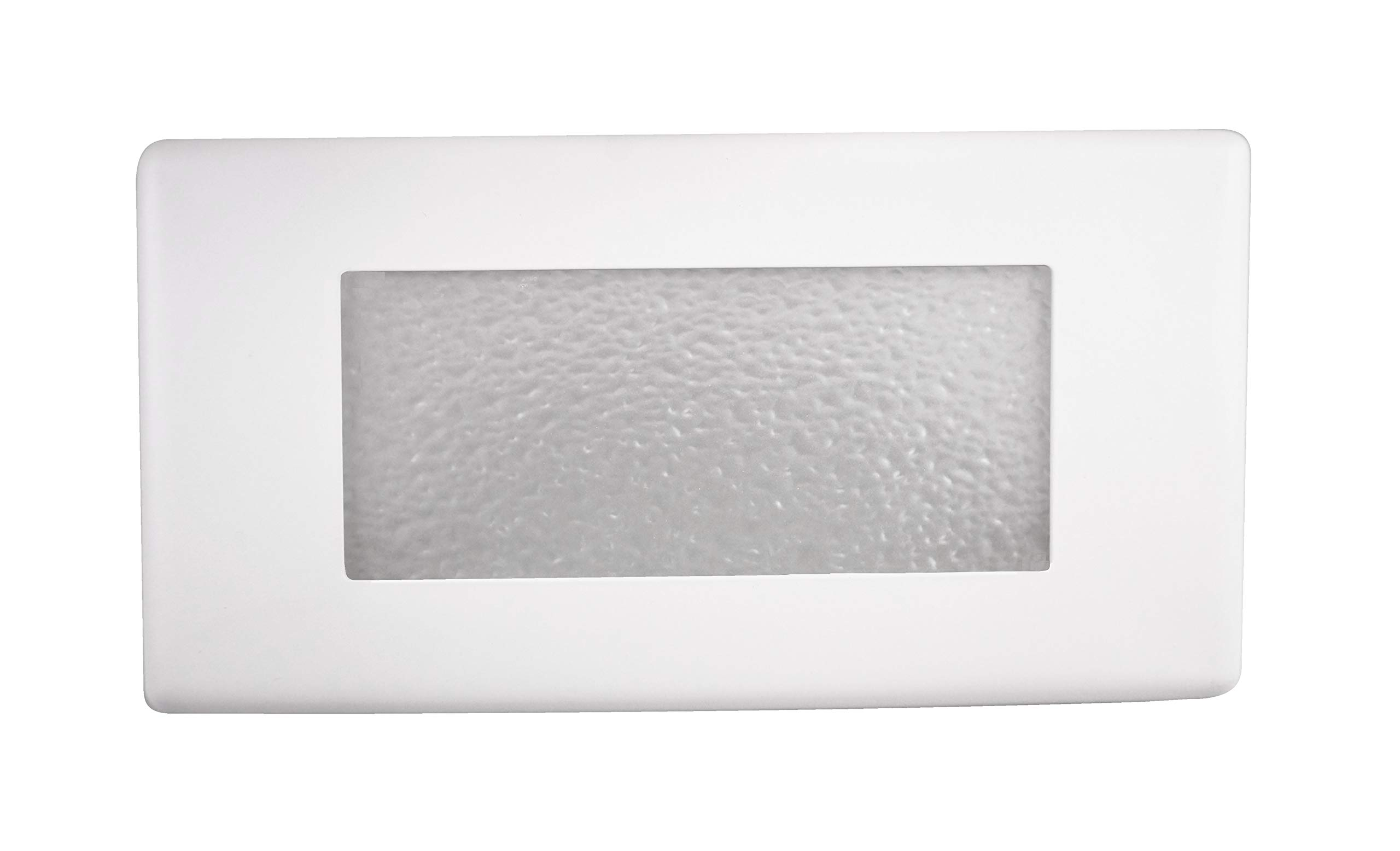 NICOR Lighting 10-Inch Textured Glass Recessed Step Lighting Faceplate Cover for 15803 LED Step Light (15812COVER)