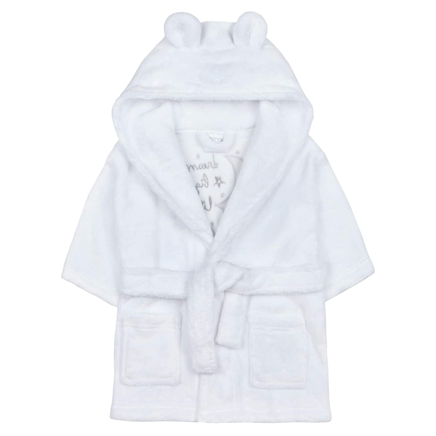 Strong Souls Baby Boys Girls 3D Slogan Hooded Dressing Gown Shoe Directory