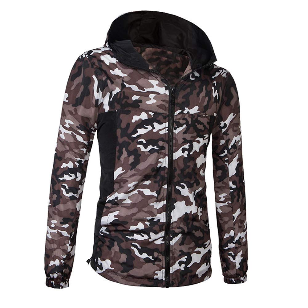 Clearance Sale! Caopixx Jackets for Men's Winter Thicken Camouflage Sports Hoodie Outdoor Coat Puffer Jacket Soft