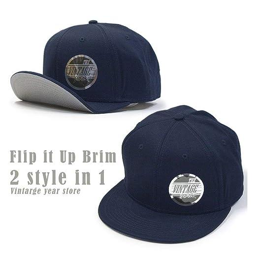 a3cba578631 Vintage Year Flat To Full Flip Brim Cotton Twill Bendable Visor Adjustable  Snapback Caps