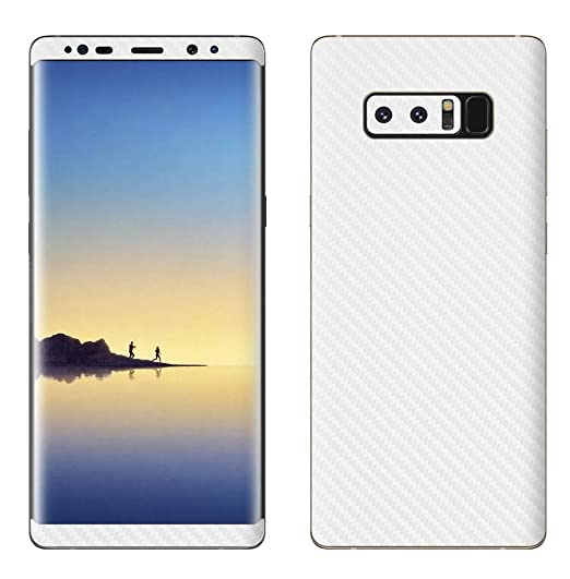 hot sale online ad8ac cb4c8 Decalrus Protective Vinyl Skin Decal for Samsung Galaxy Note8 Note 8 WHITE  Texture Carbon Fiber case wrap cover sticker skins CFgalaxyNote8White