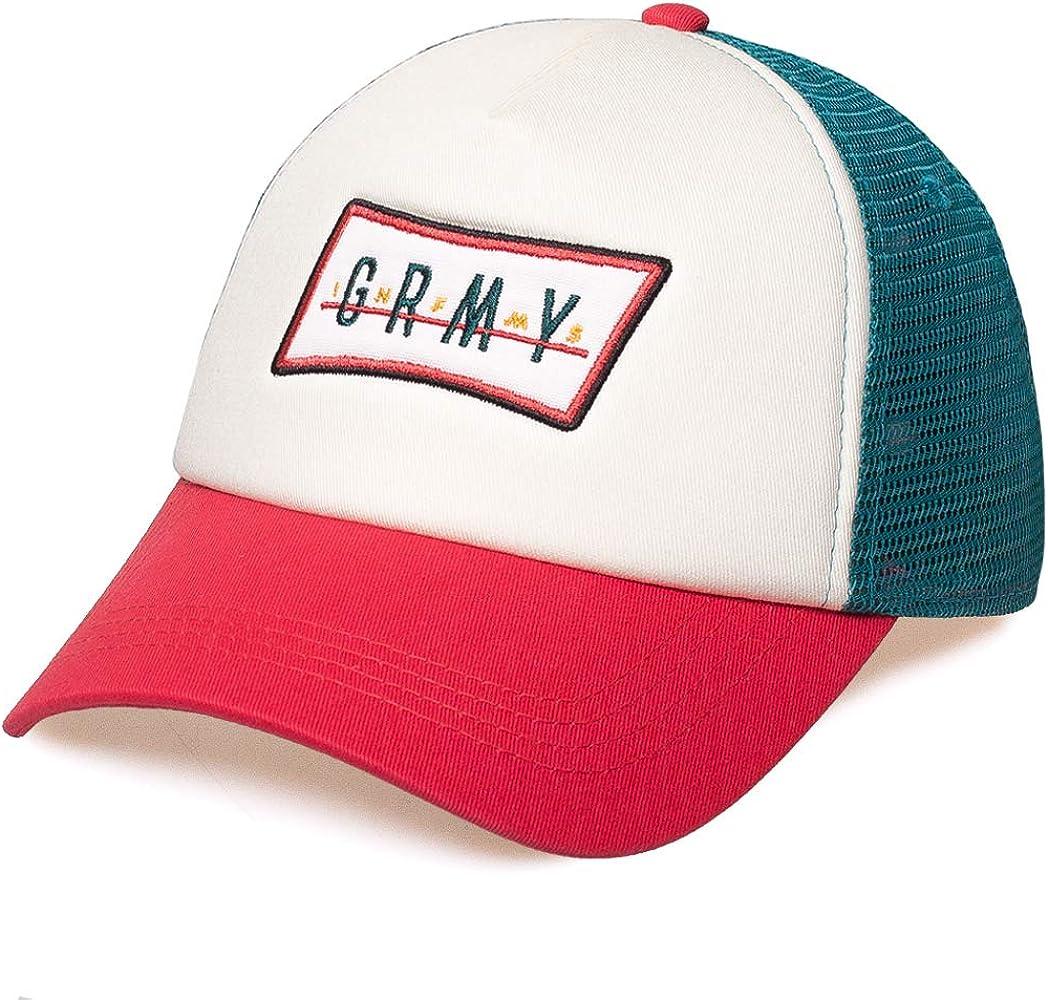 GRIMEY Gorra Midnight Trucker Curved Visor Cap SS19 White-Snapback ...