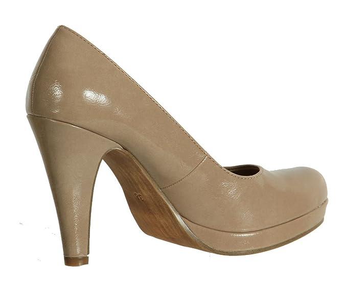 Tamaris 22426 20 Nude Patent Shoe 39: Amazon.co.uk: Shoes & Bags