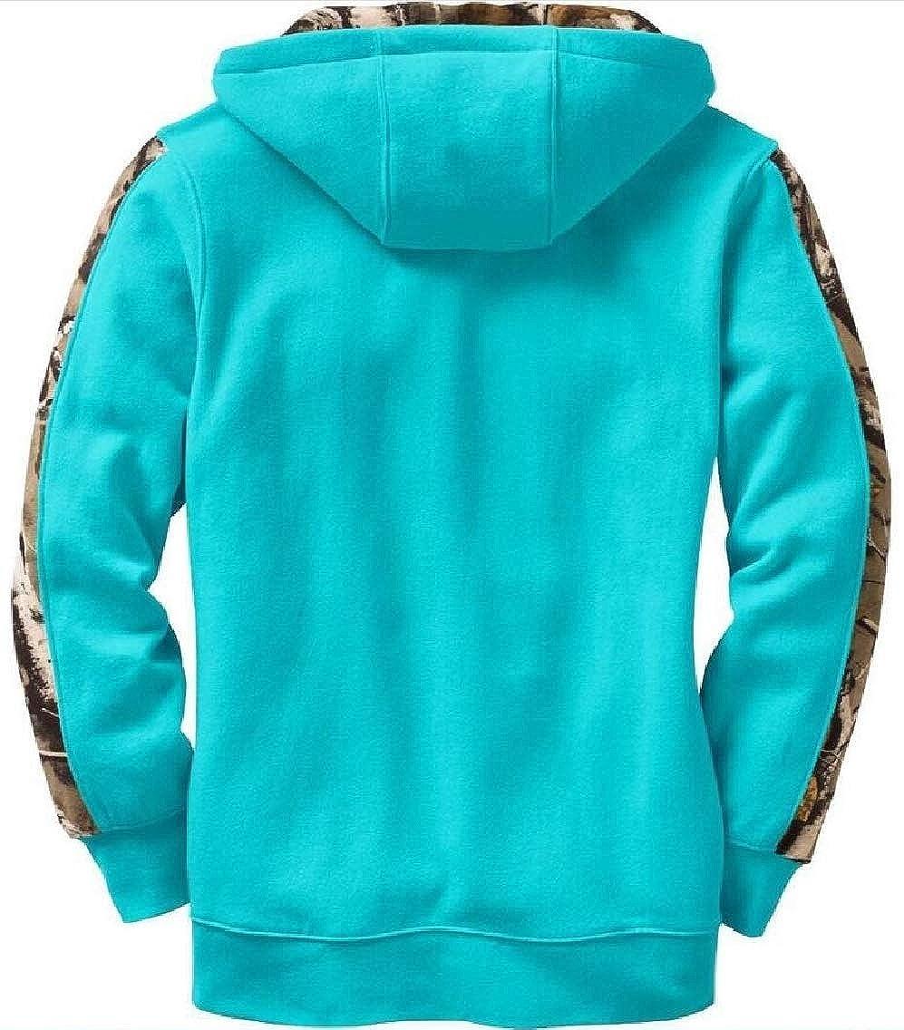Jmwss QD Womens Fleece Patchwork Printed Sweatshirt Pullover Hoodie