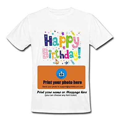 f9339151 Sprinklecart Birthday Gift! Photo Printed T-Shirt for Birthdays: Amazon.in:  Clothing & Accessories