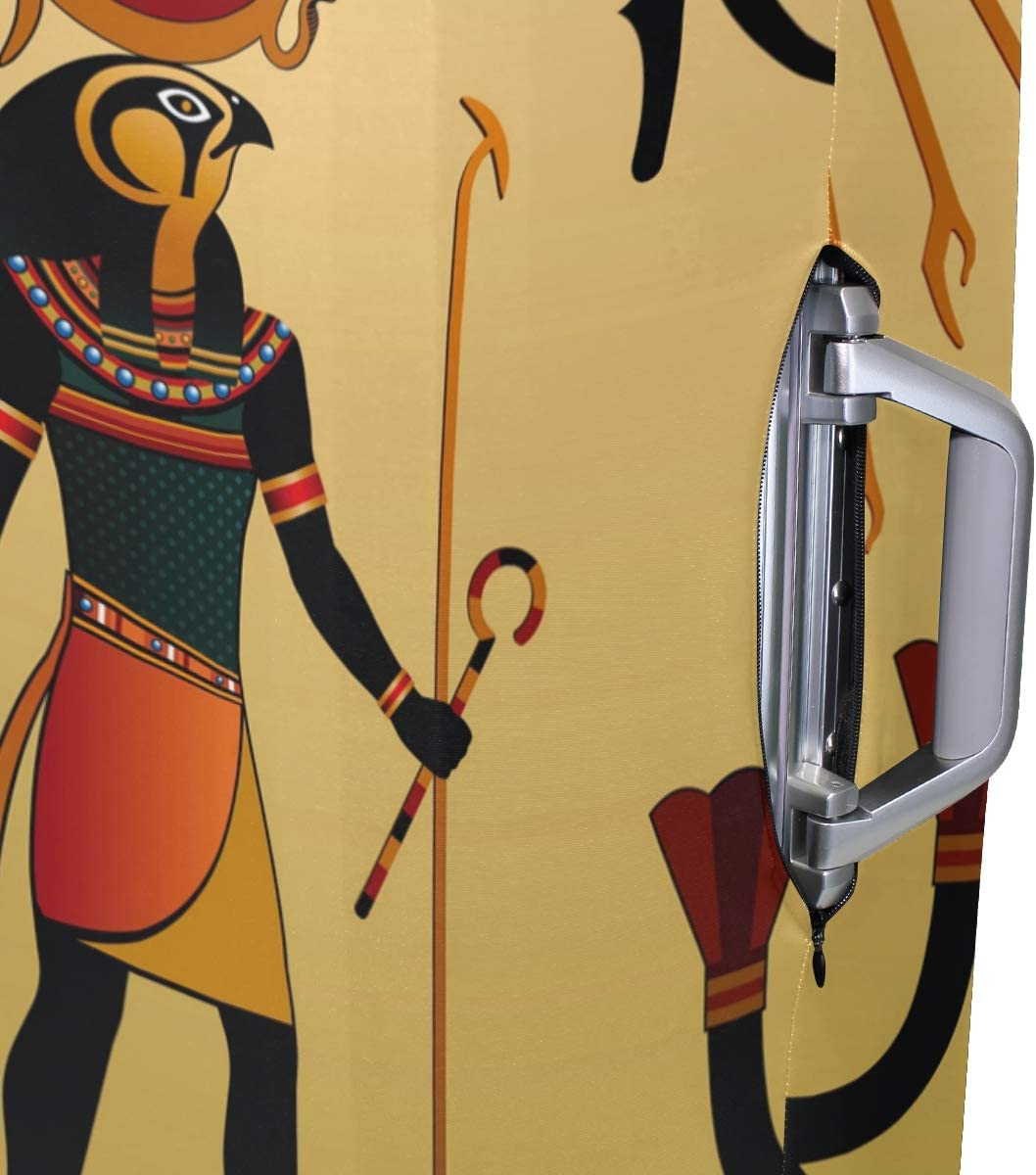 Travel Luggage Cover Ancient Civilizations African Sun Eyes Suitcase Protector
