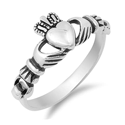 Amazon Com Best Friend Rings Irish Claddagh Engagement Wedding
