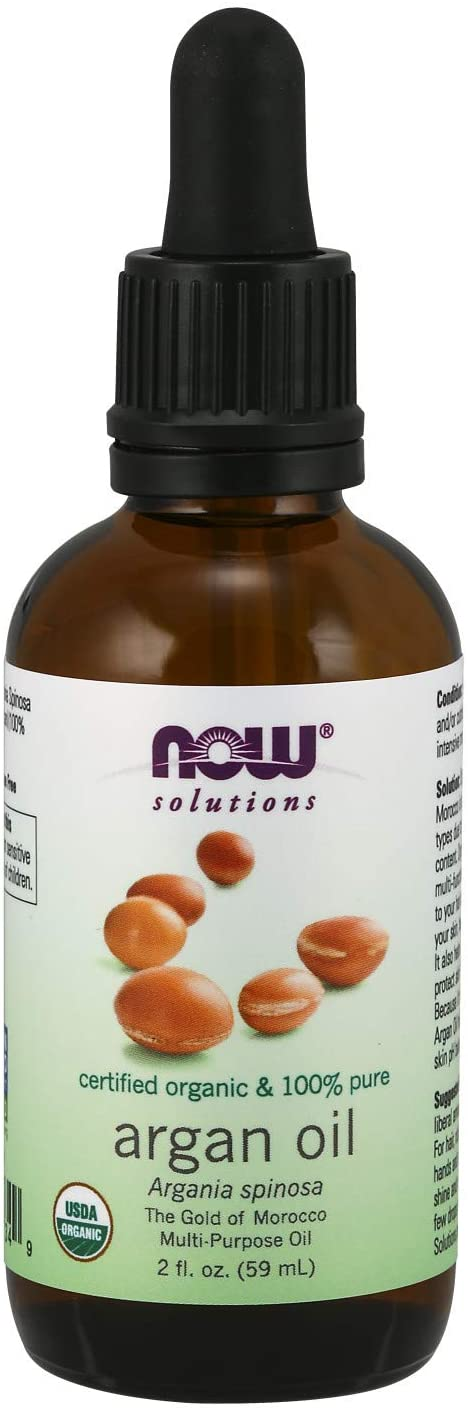 NOW Solutions, Organic Argan Oil, Certified Organic and 100% Pure,