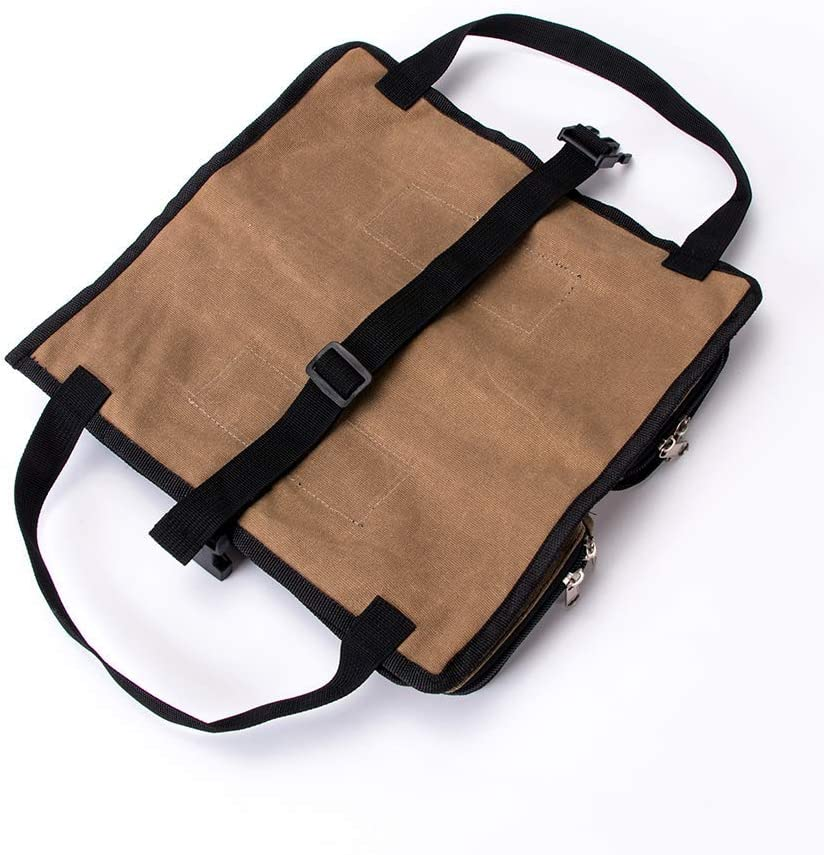 Khaki auch als Autositztasche faltbar QEES Werkzeugtasche Mehrzweckmaulschl/üssel