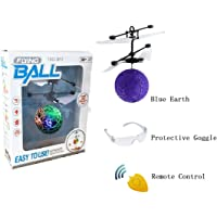 YZHI Magic Flying Ball LED Lights Sensing Technology Remote Control RC Flying Ball with Protective Goggles