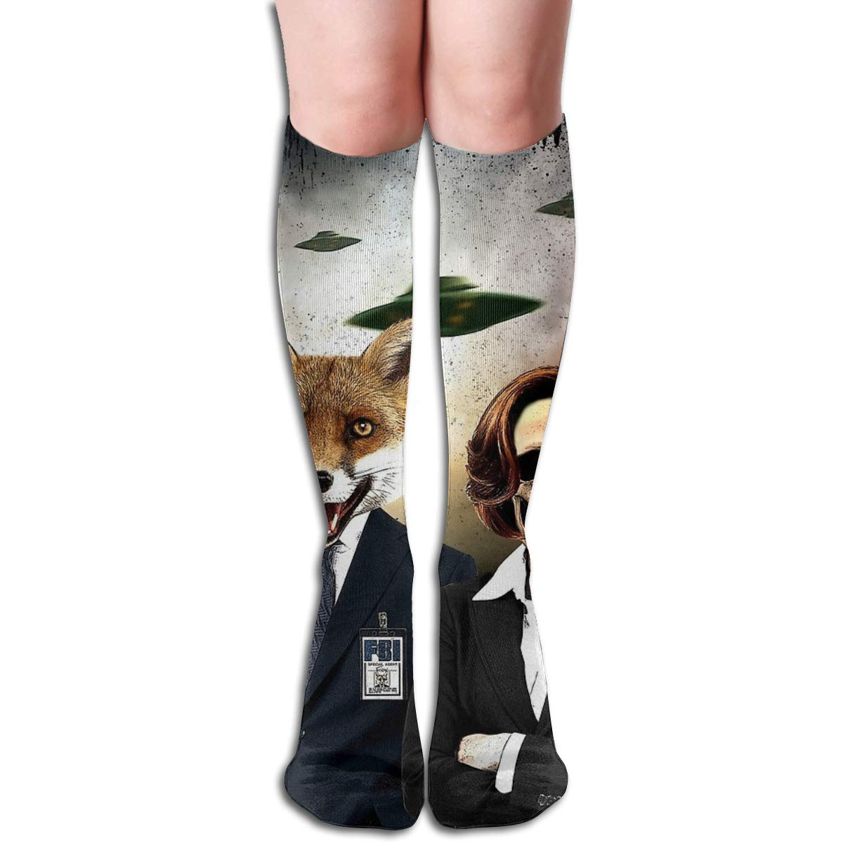 Fox And Skully Unisex Compression Socks Athletic Tube Stockings Sport Long Socks One Size