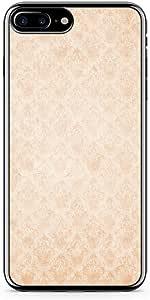 iPhone 7 Plus Transparent Edge Phone Case Subtle Phone Case Brown iPhone 7 Plus Cover with Transparent Frame