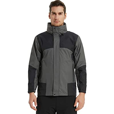 Arasiyama Men's Waterproof Foldable Hooded Rain Jacket Outdoor Raincoat Comfortable Windbreaker Slim fit Raincoat: Clothing
