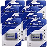 BlueDot Trading Heavy Duty 9 Volt Batteries, 8 Count