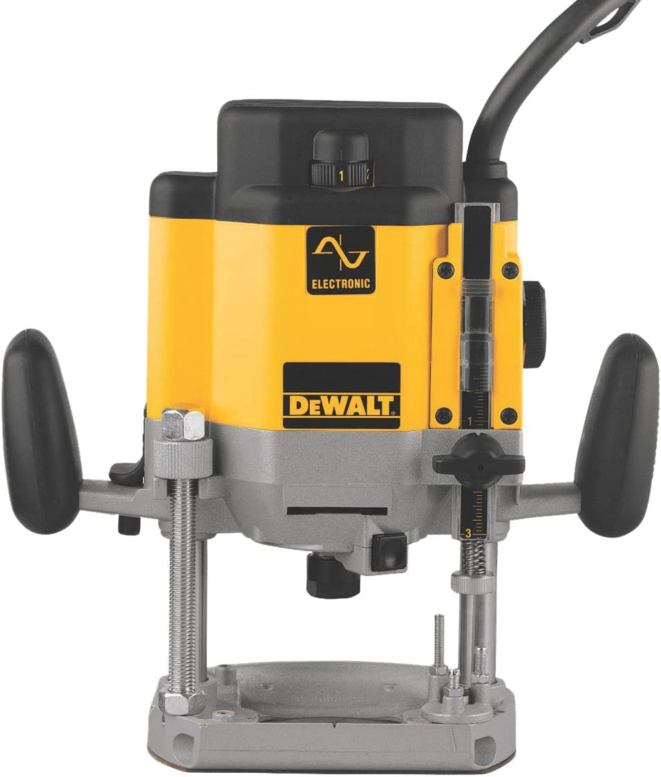 4. DeWALT DW625 Variable Speed Plunge Base Router