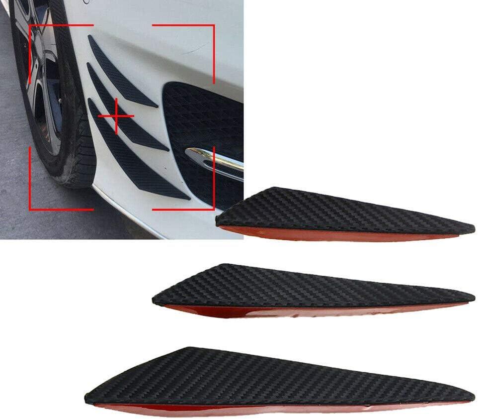 BonTime 6pcs canards Spoiler Corpo Auto Splitter Labbro paraurti Anteriore in Fibra di Carbonio Stile Auto