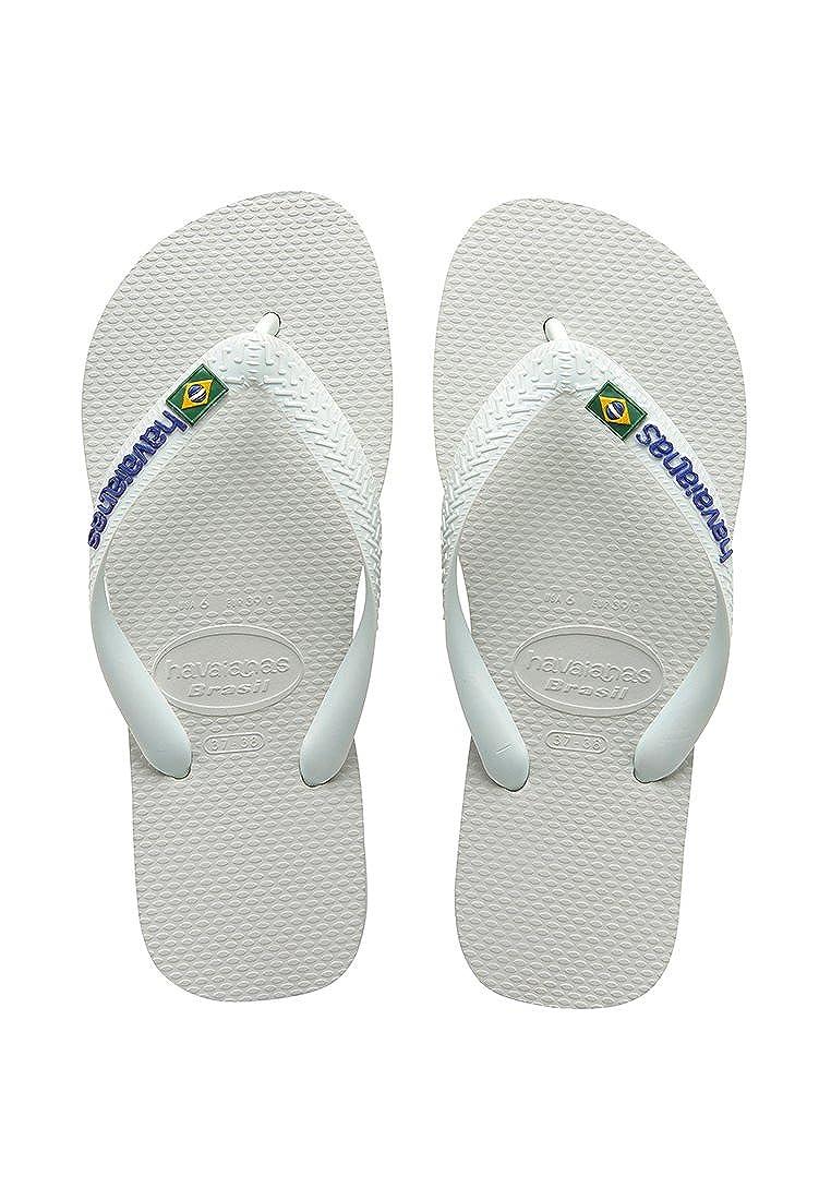Havaianas Brasil Logo Sandals 9 D M US White