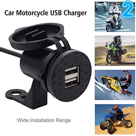 Fishyu Motocicleta Moto USB Cargador a Prueba de Agua Carga ...