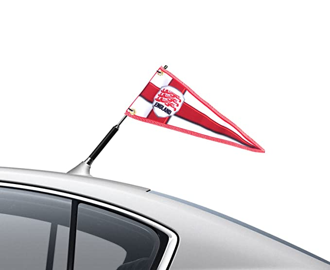 Car Aerial Flag Blue St Georges England Football Blue Crest Pennant Scooter Aerial Flag Ideal Gift