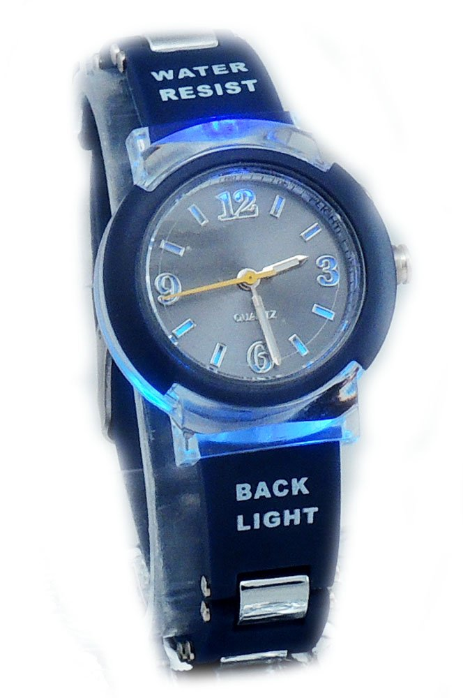 Kids's New Flashing Light up Color Changing LED Dial Analog Watch