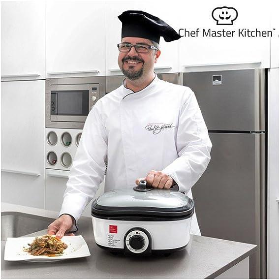 Chef Master Kitchen Quick Cooker Robot de cocina con recetario y accesorios, 7 programas de cocción, 1300 W: Amazon.es: Hogar