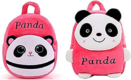 Blue Tree School Bag for Kids/Girls/Boys/Children Plush Soft Bag Backpack Panda Cartoon Bag Gift for Kids Cartoon Toy Cute Birthday Return Gift/ School Bag/ Travelling Carry Picnic Bag/ Teddy Bag For Children (Pink_3 to 5 Year)