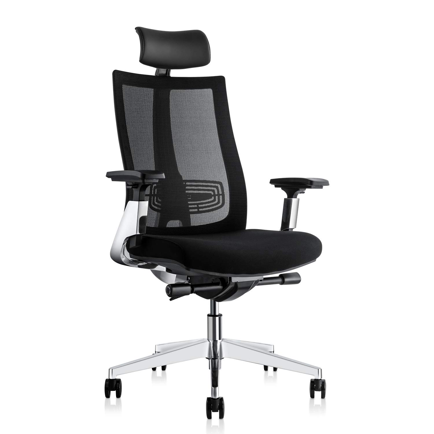 Ergonomic Adjustable Office Chair, Computer Desk Chair with Lumbar Support - High Back with Breathable Mesh, 3D Armrest, Comfortable Glide Seat Cushion and Aluminum Alloy Frame, Recliner by Gabrylly