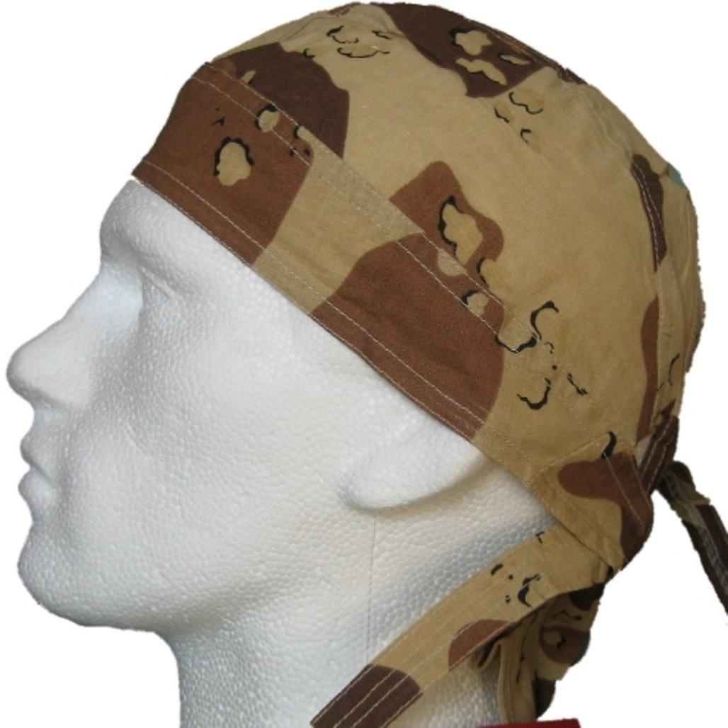 Bandana pa/ñuelo para la cabeza pre atada motivo camuflaje del desierto oscuro