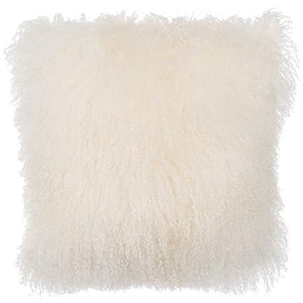 Mongolian fur pillows Green Image Unavailable Image Not Available For Amazoncom Amazoncom Slpr Home Collection Mongolian Lamb Fur Pillow Cover 20