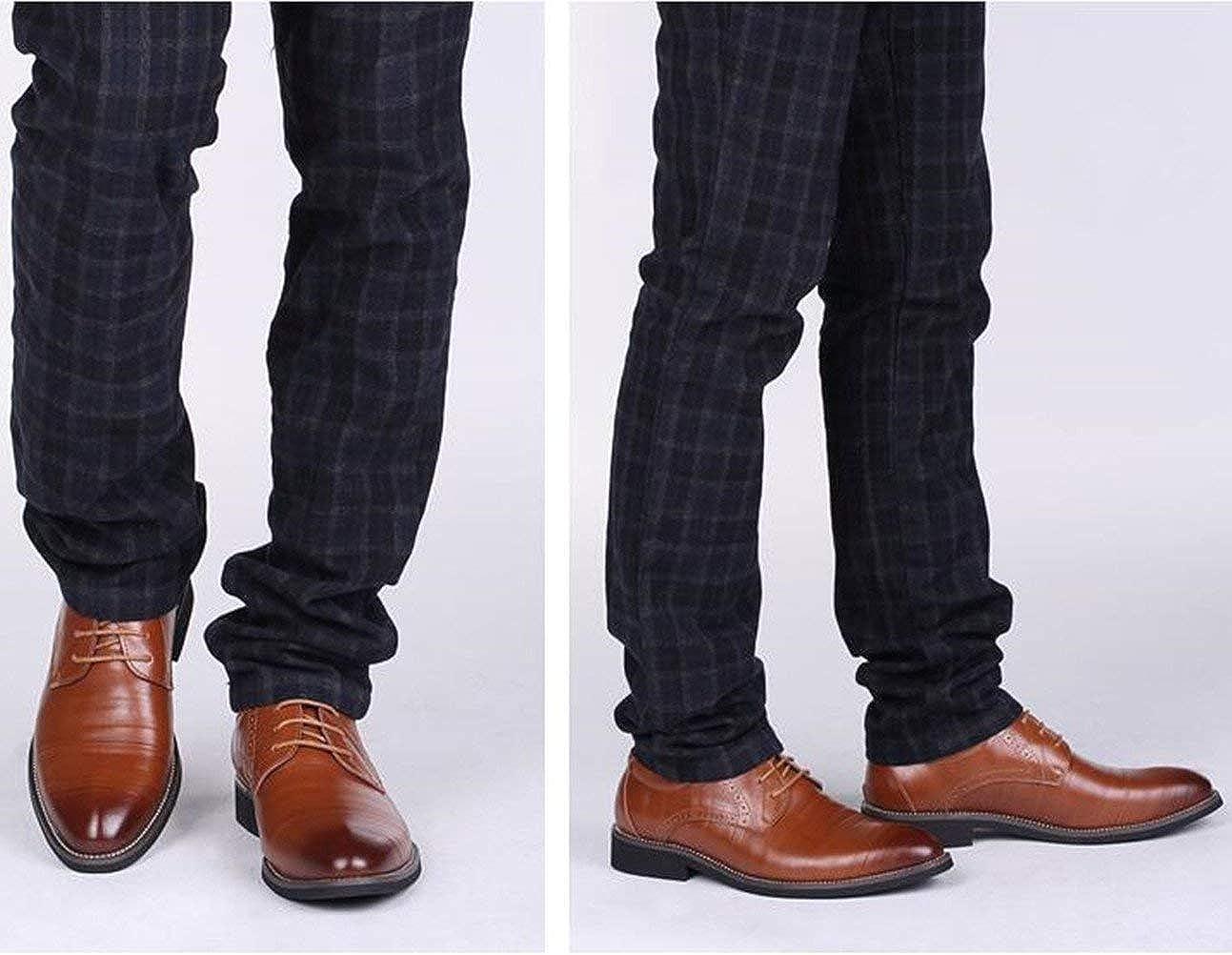 DADAWEN Mens Lace-Up Dress Business Oxford Shoes