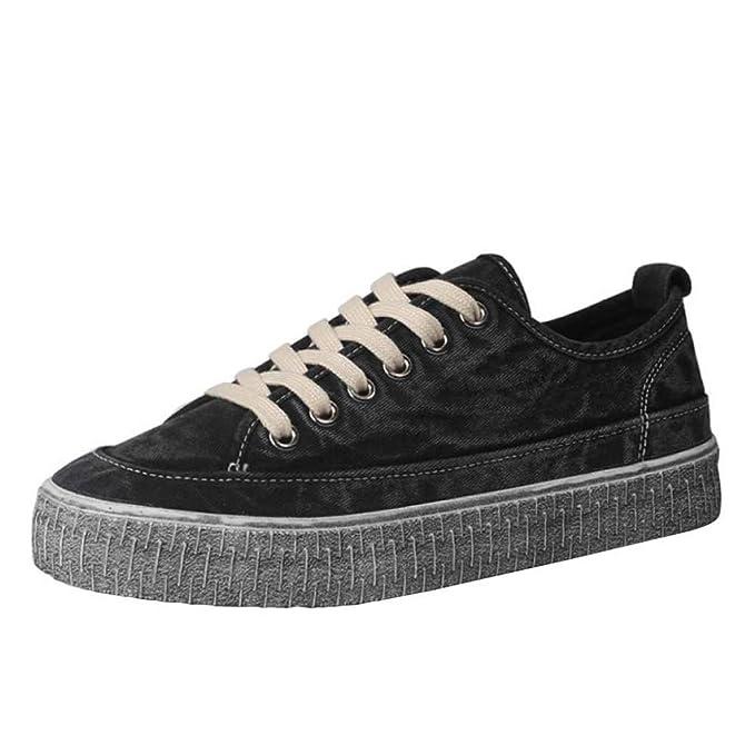 Miss Li Low Top Zapatillas De Lona Mujer Mujer Chicas Primavera Casual Y Retro Estudiante Zapatos Negros Planos PU Zapatillas Con Cordones Plimsolls: ...
