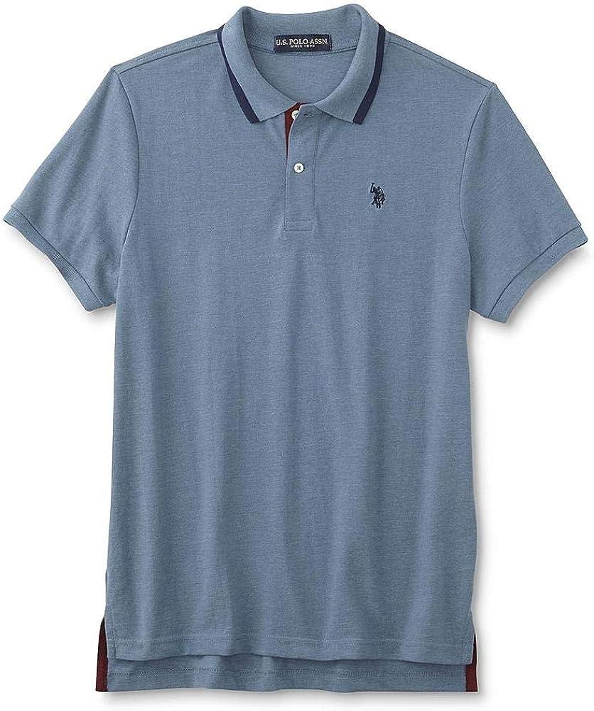 Polo Assn Mens Slim Fit Polo Shirt Size Large Slate Blue U.S