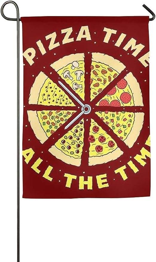 Trista Bauer Decoración Pizza Comida Otoño Hogar Jardín Casa Jardín Banderas 12 X 18 Todo el Tiempo Poliéster Emblema: Amazon.es: Jardín