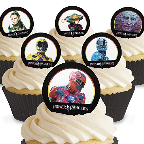 Cakeshop 12 x PRE-CUT Power Rangers Edible Cake Toppers