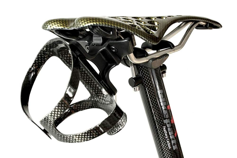 M-bikeparts Feathery Carbon Radsattel Trinkflaschenhalter Kit - FC201Sportly abnehmbar.