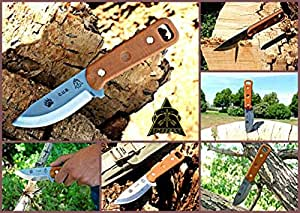 Tops Knives CUB Fixed Blade Knife,3.75in,Razor Blade,1095 Carbon Handle