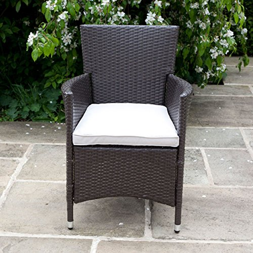 BillyOh Rosario Rattan Dining Chair 2 Set Armchairs Hand Woven Classic Brown 28080