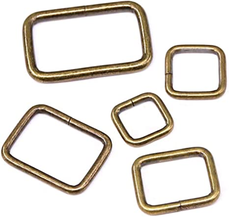 20pcs 1//2 Silver Belt Buckle with Roller Adjustable Rectangle Ring Tri-Glide DIY Leather Craft Garment Accessories for Shoes Backpack Clothes Bag Strap Metal Pin Buckles 13x12mm
