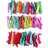 TiaoBug 100Pcs Elastic Hair Ties-Candy Shop Color-No Crease Knotted Ponytail ...