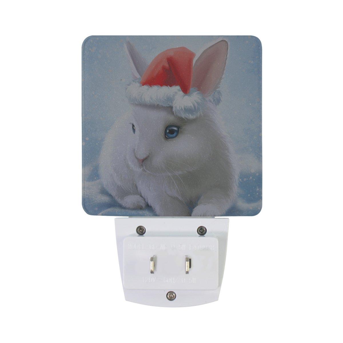 JOYPRINT Led Night Light Cute Animal Rabbit Bunny, Auto Senor Dusk to Dawn Night Light Plug in for Kids Baby Girls Boys Adults Room by JOYPRINT (Image #2)