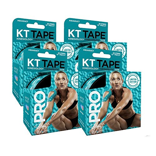 KT Tape PRO Kinesiology Tape Roll AQUADUCT 4-Roll Value PackLimited Edition by KT Tape