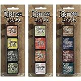 Ranger Tim Holtz Distress Mini Ink Pad Kits - #10, #11 and #12 Bundle