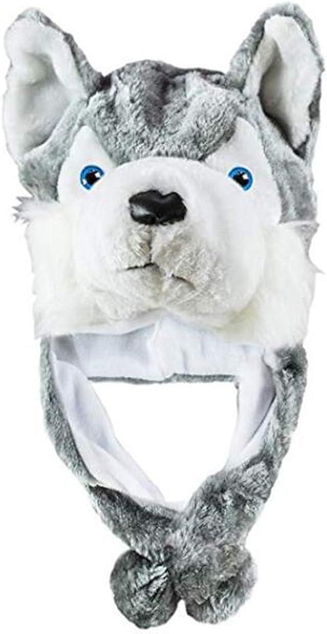 VISKEY Plush Faux Fur Animal Critter Hat Cap Halloween Costume for Kids Adults